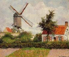 Ветряная мельница в Кноке Бельгия 1894